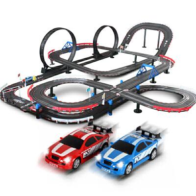 轨道赛车玩具电动轨道车儿童遥控汽车赛道赛车轨道玩具车套装男孩