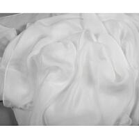 新款春夏丝绸 丝巾女长款 白色纯色围巾薄款披肩两用