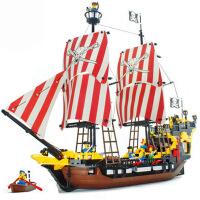 6-12岁 �犯呋�木7海盗船模型5系列10儿童拼装玩具9男孩8