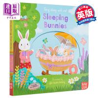 【中商原版】Sing Along With Me 跟我唱系列 熟睡的小兔 Sleeping Bunnies 低幼认知操作