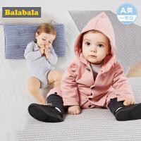 巴拉巴拉婴儿衣服男女宝宝连体衣秋冬2017新款新生儿家居服三件套