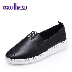 依思q新款休闲单鞋舒适低跟懒人鞋女鞋-