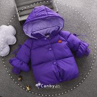 女宝宝冬装外套0一1-2-3岁韩版潮儿童加厚棉袄小女童洋气棉衣