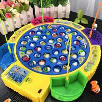 儿童磁性电动钓鱼机宝宝小猫钓鱼套装小孩玩具3-6周岁男孩