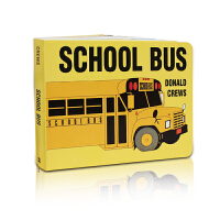 英文原版绘本 Donald crews: School Bus Board Book 校车启蒙认知纸板书 1-3岁汽车