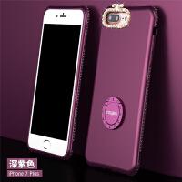 苹果7手机壳iphone7plus硅胶套7p支架8plus七女款八水钻