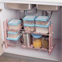 门扉 置物架 不锈钢可伸缩架子 下水槽架厨房置物架层架 多层收纳架储物架锅架