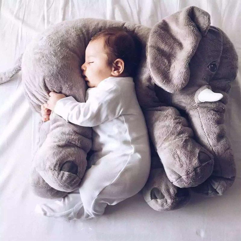 大象安抚抱枕被两用宝宝睡觉玩偶儿童盖毯多功能空调被大号枕头被