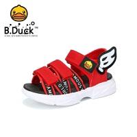 【4折价:99.6】B.Duck小黄鸭童鞋男童凉鞋2020夏季新款儿童沙滩露趾凉鞋B2085005