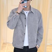 男士外套春秋韩版潮流修身薄款2018新款灯芯绒牛仔夹克男棒球衣服
