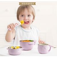 儿童餐具婴儿注水保温碗宝宝吸盘碗不锈钢防摔辅食碗