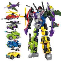 启蒙积木拼装玩具男孩益智力legao儿童变形机器人金刚模型小颗粒