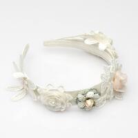 女童发饰饰品 甜美 可爱 儿童女宝宝发箍 花朵发箍头饰 白色