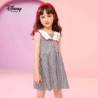 【2件2.3折:63.2元】迪士尼女童夏装连衣裙2021新款宝宝公主裙儿童裙子时尚洋气翻领