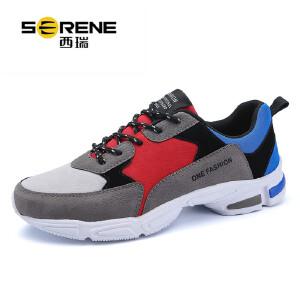 西瑞轻便跑步鞋时尚学生男鞋子低帮系带运动休闲鞋ZC5820