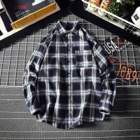 新款男士长袖衬衫格子韩版潮流帅气青少年学生休闲衬衣男寸衣