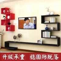 创意电视背景墙装饰架墙上置物架挂墙实木板墙壁书架客厅北欧隔板