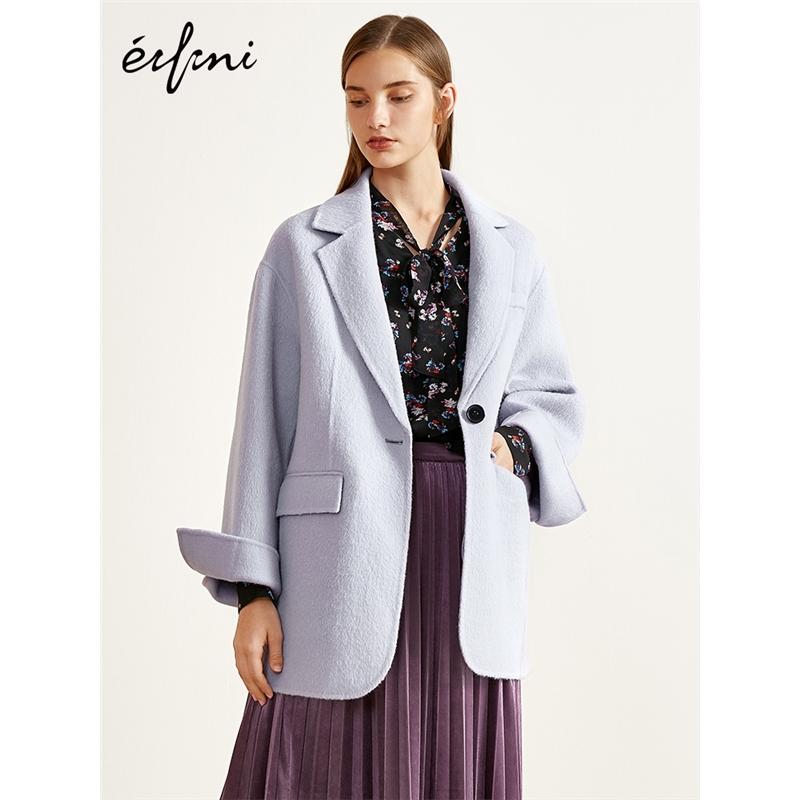 2件2.7折价:778 阿尔巴卡伊芙丽2018冬装新款毛呢外套中长款双面呢大衣女当当开学季(2件2.7折款)