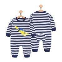 婴儿连体衣服新生儿春秋装0纯棉3秋季1岁男宝宝秋款哈衣6个月长袖
