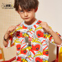 小虎宝儿男童短袖t恤中大童宽松半袖上衣2020夏季新款洋气童装潮