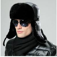 男士帽子冬季韩版潮户外针织帽东北帽 毛线帽秋冬时尚 雷锋帽子