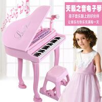 哈比比玩具 4053宝丽多功能37键电子琴公主琴带话筒可连接USB