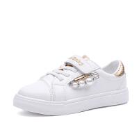 女童运动鞋夏季休闲网面透气小白鞋女百搭帆布新款中大童童鞋