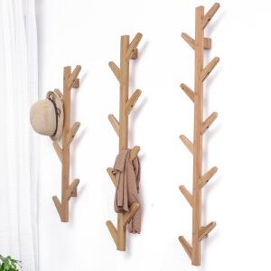 楠竹创意树杈墙上壁挂架 门厅玄关装饰衣帽架 墙上装饰
