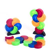 磁性月亮磁力片积木儿童桌面玩具