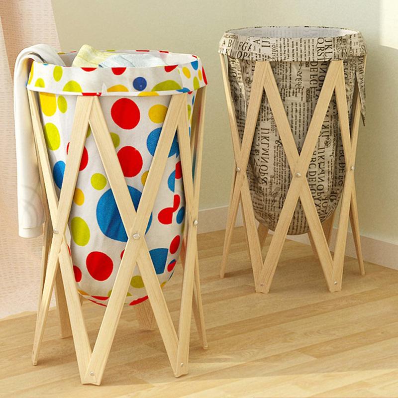 幽咸家居洗衣筐田园脏衣篓布艺折叠衣物玩具收纳篮大号洗衣篮