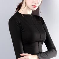 半高领打底衫女长袖T恤2018春装新款舒适针织纯色上衣外穿小衫潮