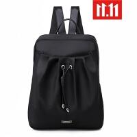电脑包女双肩包2019新款商务14寸女士大背包旅行津布大学生书包