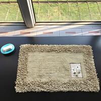 北欧吸水防滑浴室地毯卧室雪尼尔地垫家用厨房卫生间可机洗进门垫 500×800两条装 (随意选色)