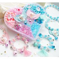儿童益智玩具小女孩手工串珠diy项链手链材料包女童首饰品穿珠子