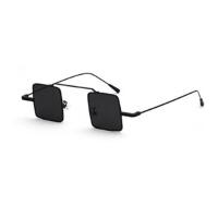 方形 复古墨镜男个性装饰太阳眼镜小框反光太阳镜女韩版潮人