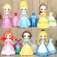 可动换装人偶摆件模型玩具 袋装【公主娃娃 全六款(可换衣服)】 【活动!!当天发货】