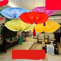 新中式荷叶灯中国风灯笼婚庆茶楼过道走廊餐厅火锅店仿古布艺吊灯