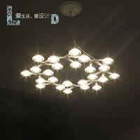 简约圆形艺术梅花吊灯繁星星风格个性创意卧室餐厅吧台灯具