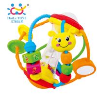 汇乐929健儿球宝宝益智婴幼儿摇铃手抓球3-6-12个月0-1岁玩具