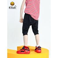 专柜同款 B.duck小黄鸭童装男童裤子夏装2020新款中大童薄款中裤潮儿童短裤BF2153906