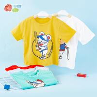 贝贝怡男女童外穿洋气短袖t恤2020夏季薄款宝宝透气运动上衣