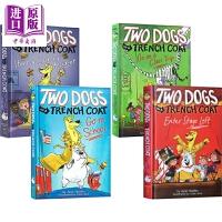 【中商原版】学乐风衣狗狗侠1-4 Two Dogs in a Trench Coat 4册 小学生课外章节桥梁书故事书