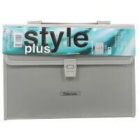 Foldermate/富美高 138 13层风琴包 银色 专业型办公系列 A4文件夹12格商务多层文件包办公学生文具试