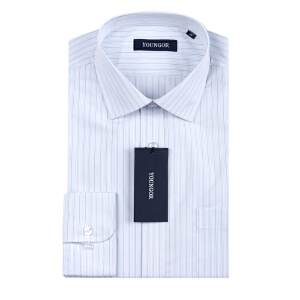 Youngor/雅戈尔秋季新品男士商务正装条纹免烫长袖衬衫XP10120IBA