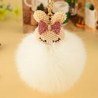 车钥匙挂件女士毛绒创意可爱时尚狐狸毛包包挂饰礼品钥匙扣