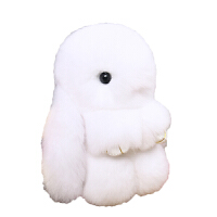 20180527212511032小兔子毛绒玩具垂耳兔长耳兔兔玩偶书包挂件小号公仔 白色 18厘米常规版