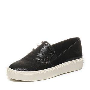 Teenmix/天美意专柜同款春山羊皮时尚舒适平跟女单鞋6WG27AM6女乐福鞋