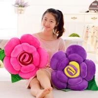 仿真大号玫瑰花靠垫抱枕毛绒玩具创意花抱枕生日礼物送女生女孩