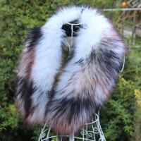 仿狐狸貉子毛毛领子帽条皮草假毛领子围巾羽绒服帽条大衣领子女