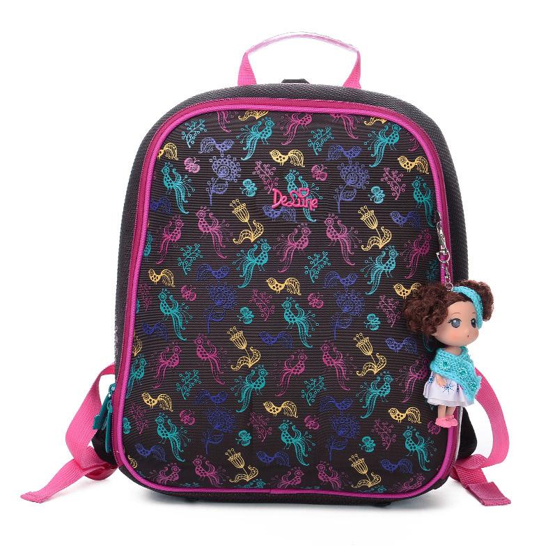 Delune嘚噜呢小学生书包女1-3年级儿童双肩背包大容量防水书包防水 大容量 减负护脊